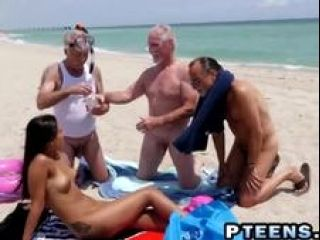 Three Older Grandpas Getting Involved In A Hot Foursome With Hot Teen (2)