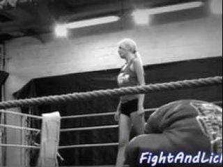 Naked Lezzies Wrestling In A Boxing Ring (5)