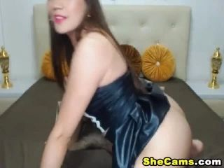 Sexy Shemale Plays her Big Hard Cock (5)