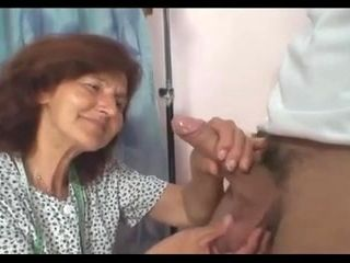GrannyBet - Sewing granny jumps on fresh cock