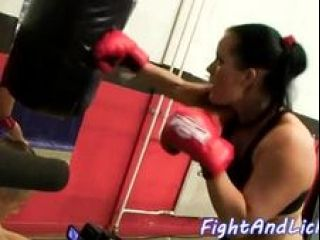 Naked Lesbians Wrestling In A Boxing Ring (5)
