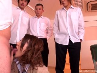 Sexy Japanese Schoolgirl Is Gangbanged In Clothed Sex