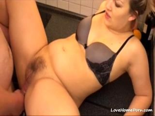 Chubby Girl Takes It In The Ass On The Kitchen Counter (5)