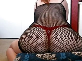 Humping My Pillow In A Fishnet Dress