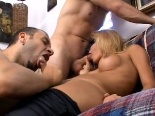 Wow! Super Hot Threesome with 2 Males and THREE COCKS!