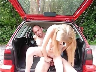 German Blonde Girl   Teen Get Fucked Outdoor