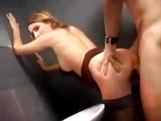 French Fucked In Public Restroom