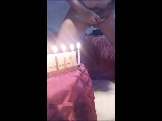 Busty amateur Fapping with a Candle