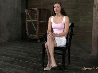 Tied bondage diva throbbed doggystyle in BDSM porn