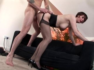 Milf Lara Latex fuck with a businessman Jig
