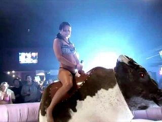 Horny Babe In Amateur Reality Video Riding The Raging Bull