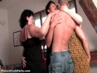 Hot Mature Women Hugging Ang Kissing A Younger Guy Who