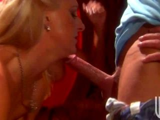 Busty Blondes Demi Delia and Emilianna Sharing a Cock In Threesome