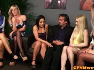 British Cfnm Babes Demand Subs Cock In Group (4)