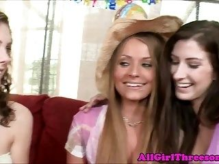 20Yo Lesbo Celebrates With Strapon Orgy (2)