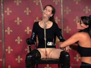 Masked matured bondage cowgirl withstanding torture In BDSM