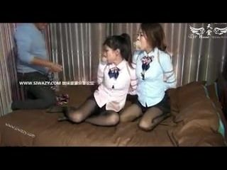 2 Chinese Girls In Bondage