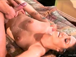 Cougar with tattoo is licked,fucked Hardcore and gets cum on tits (2)