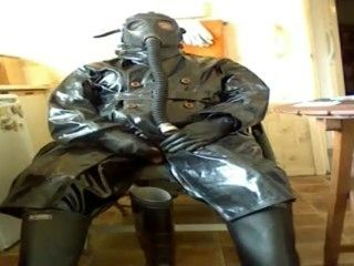 Wanking My Cissy Cock In Rubber And Oilskins.
