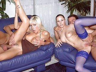 Jessica and Britnee Have a DP Orgy (2)