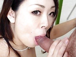 Small titty Asian babe rides her man's huge pecker (8)