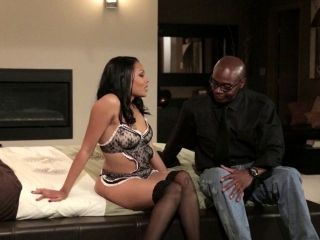Mind-blowing black babe called Ferrara is ready for the missionary sex